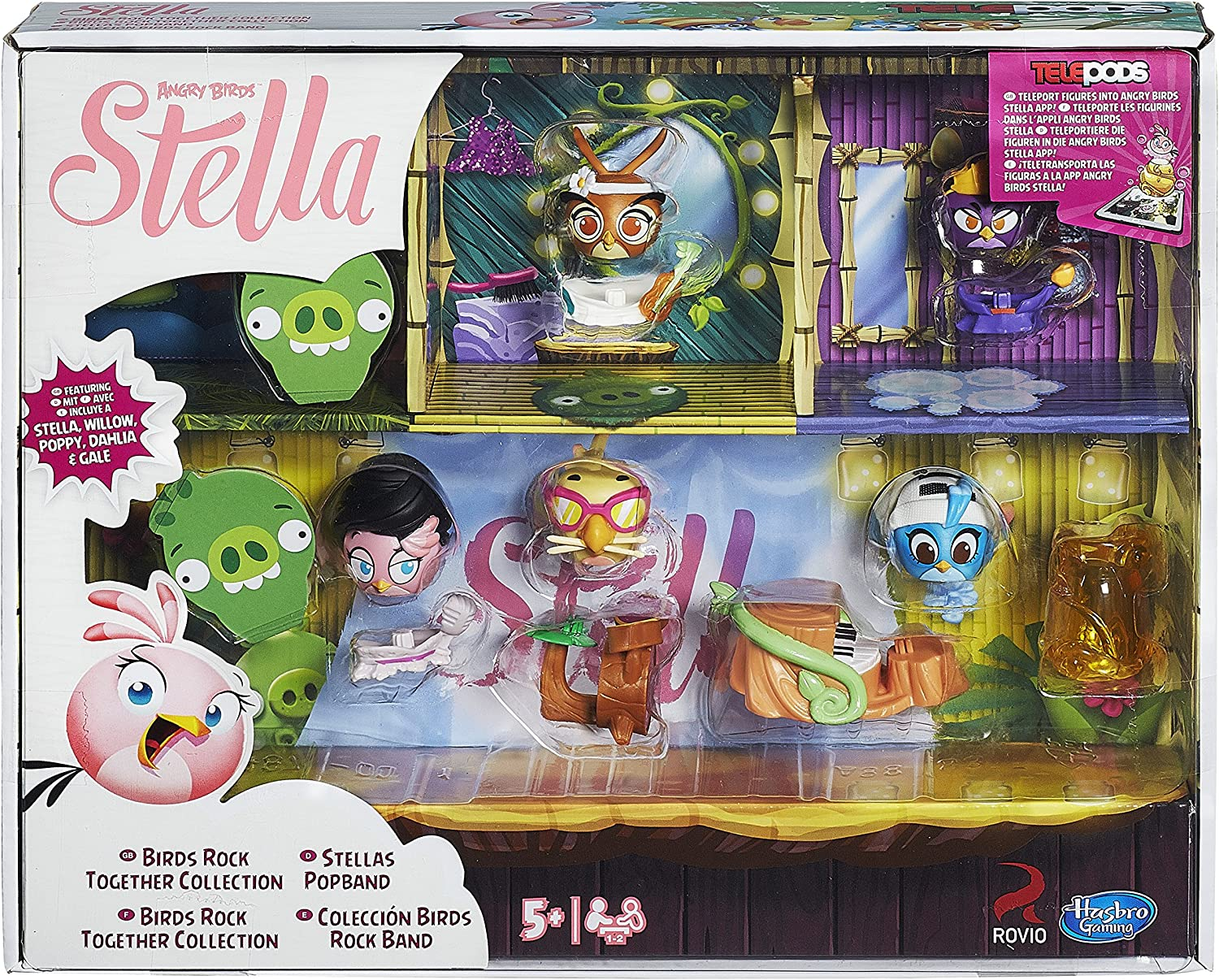 Stella /& Willow Angry Birds Stella Telepods Sleepover Figure 2-Pack Hasbro Toys