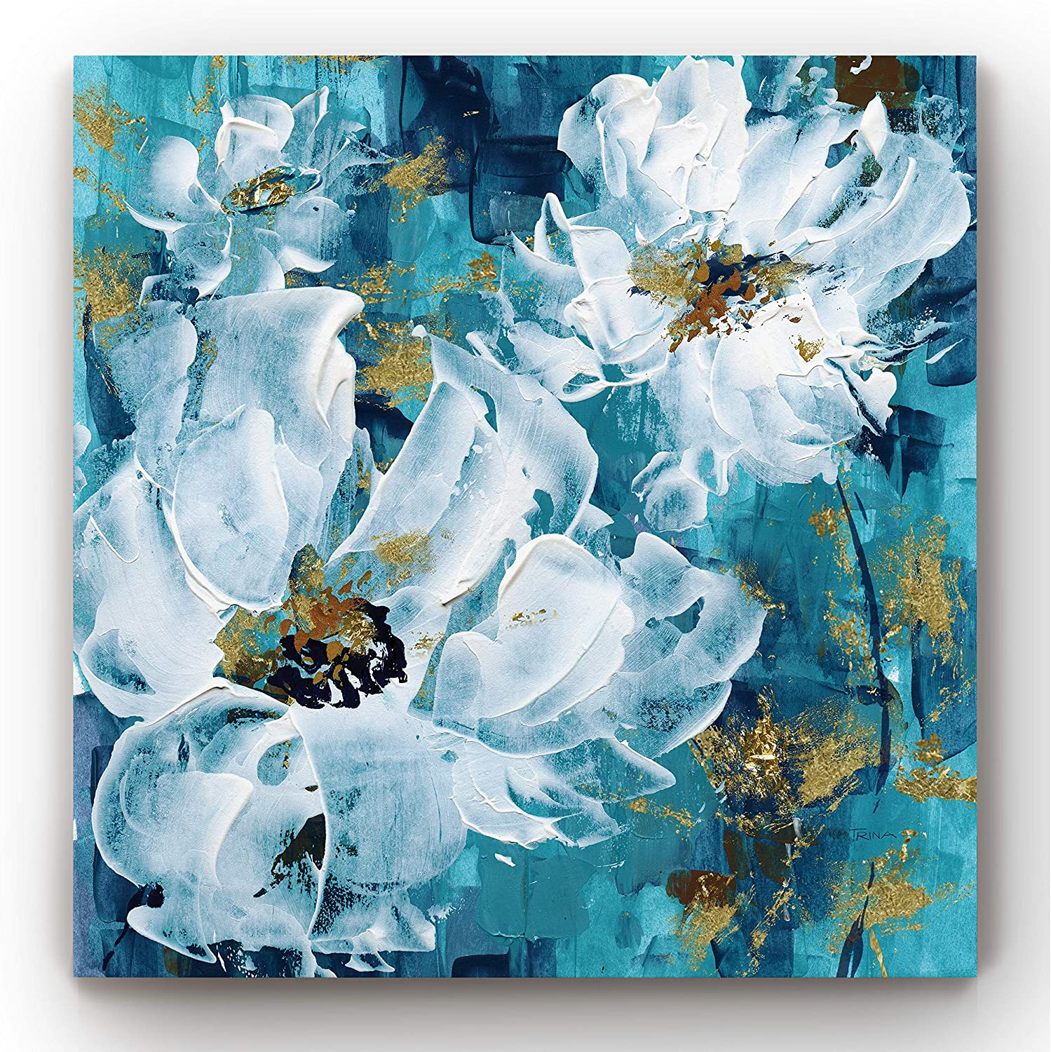 Floral Wall Art, Wall Décor Canvas, Classic, Geometric, Abstract, Transitional, & Country Chic, Ready to Hang - Tango Trio 24X24