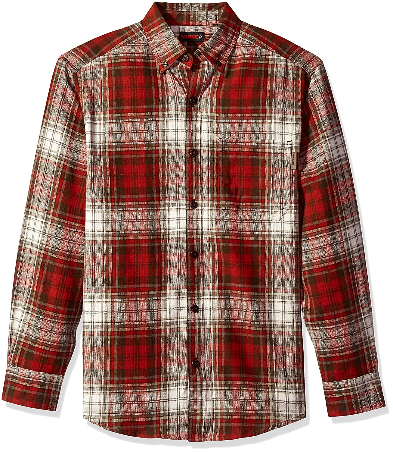 Wolverine メンズ Rogan フランネルシャツ 長袖 B072W6XQXW X-Large|Spice Plaid Spice Plaid X-Large