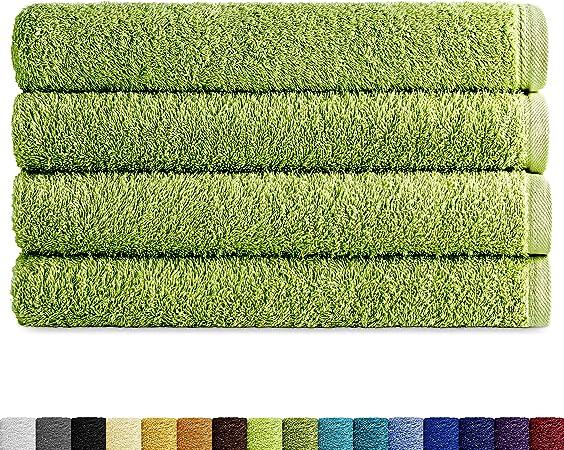 Eiffel Textile Packs de Toallas Calidad Rizo 400 gr, Algodón Egipcio 100%, Hoja, Ducha 70x140 cm, 4 Unidades: Amazon.es: Hogar