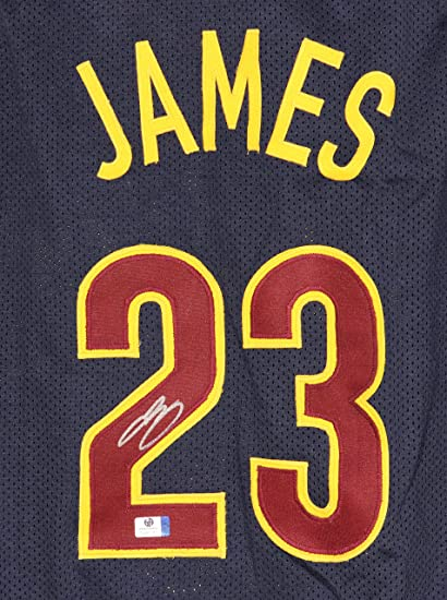 afc3f3d47 Lebron James Cleveland Cavaliers Cavs Signed Autographed Custom Blue  23  Jersey COA