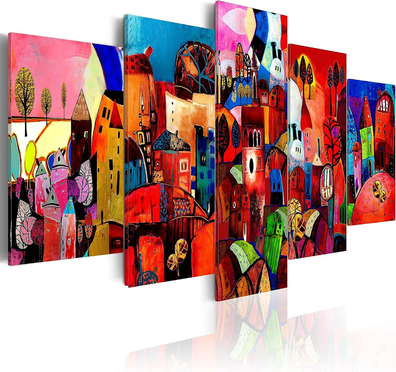 murando - Cuadro en Lienzo Colorido 200x100 - Impresión de 5 Piezas Material Tejido no Tejido Impresión Artística Imagen Gráfica Decoracion de Pared 051447