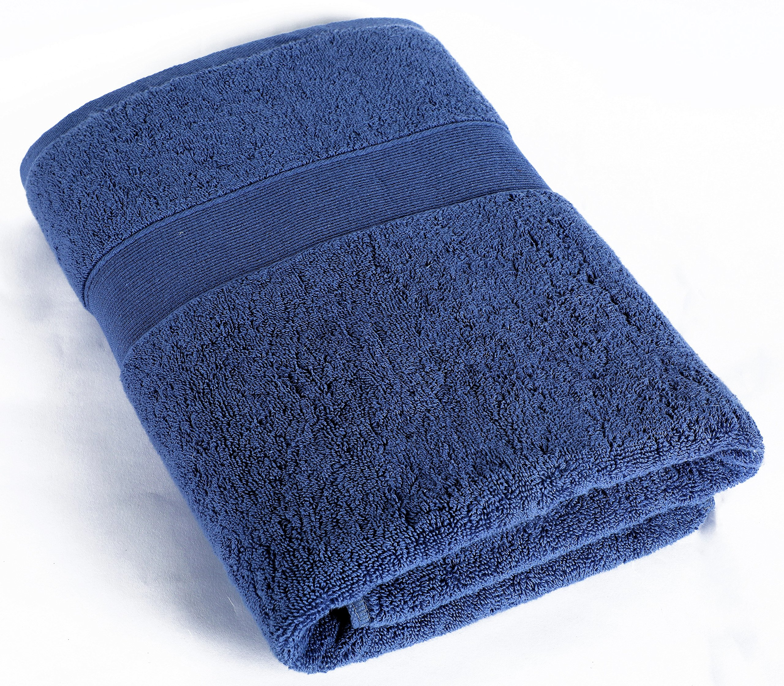 Grohome Cotton Luxury Hotel & Spa 750 GSM Bath Towel Navy (28 x 57 inch)