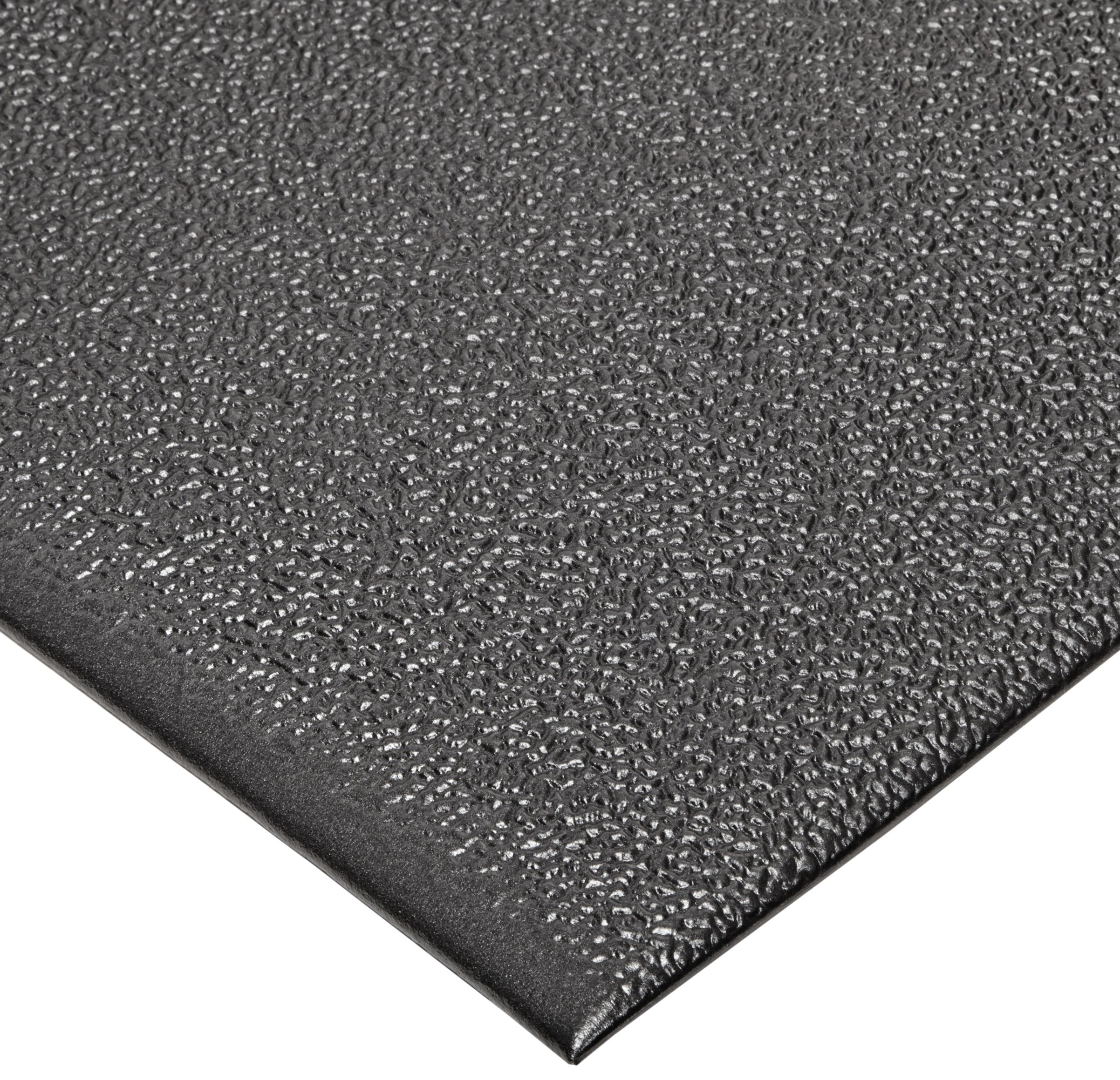 NoTrax T41 Heavy Duty PVC Safety/Anti-Fatigue Comfort Rest Pebble Foam, For Dry Areas, 2' Width x 5' Length x 9/16'' Thickness, Coal