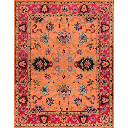 nuLOOM Montesque Hand Tufted Wool Rug, 6 x 9 , Orange