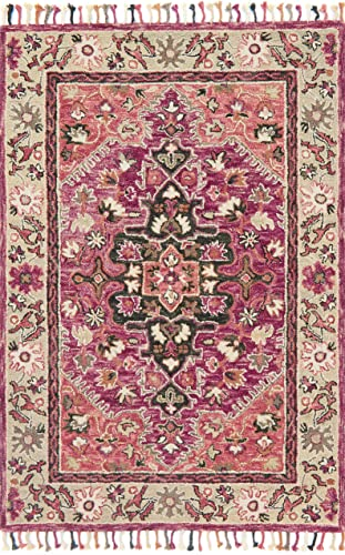 Loloi Rugs, Zharah Collection – Raspberry Taupe Area Rug, 9 3 x 13