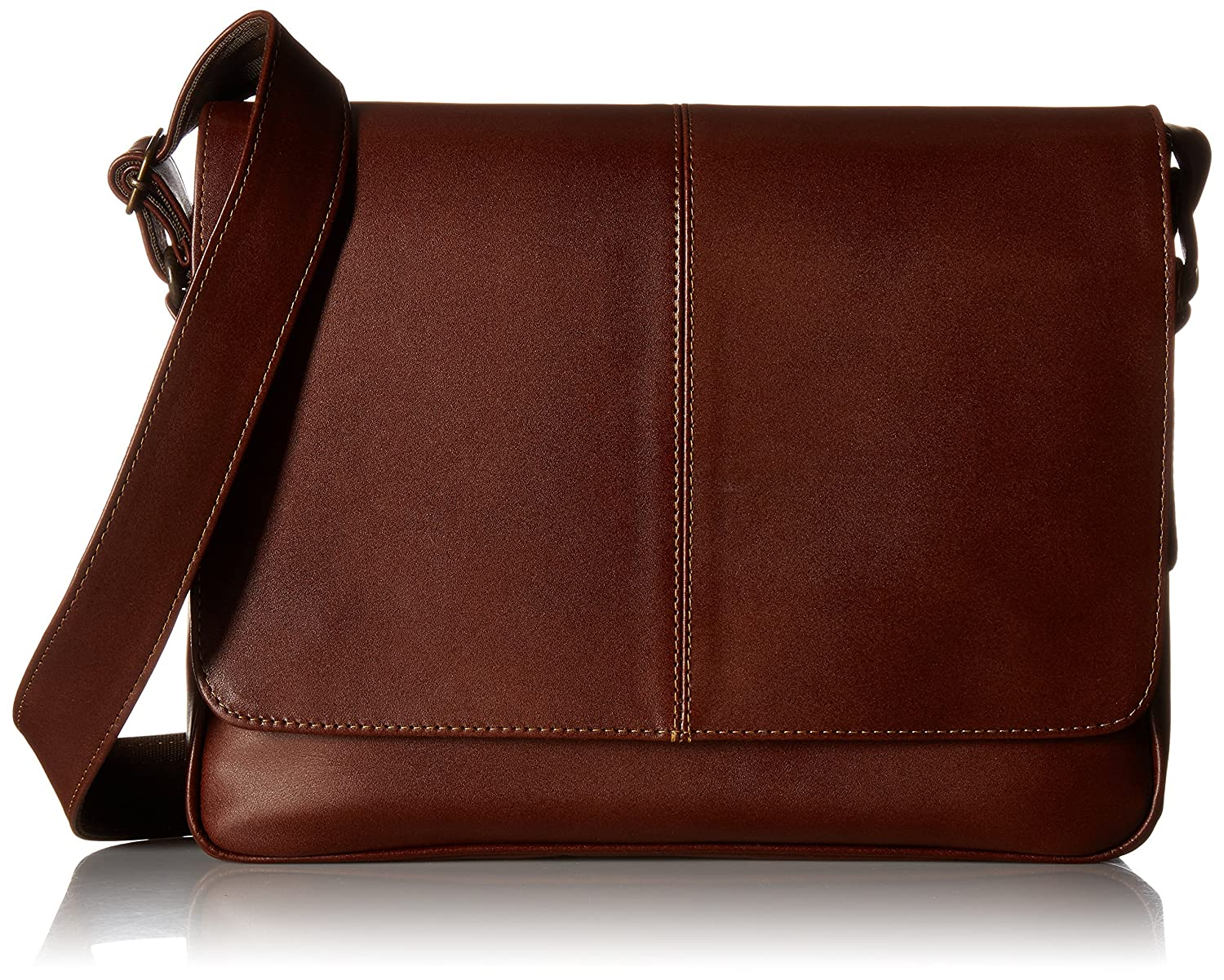 Brown Piel Leather Deluxe Small Messenger BRN