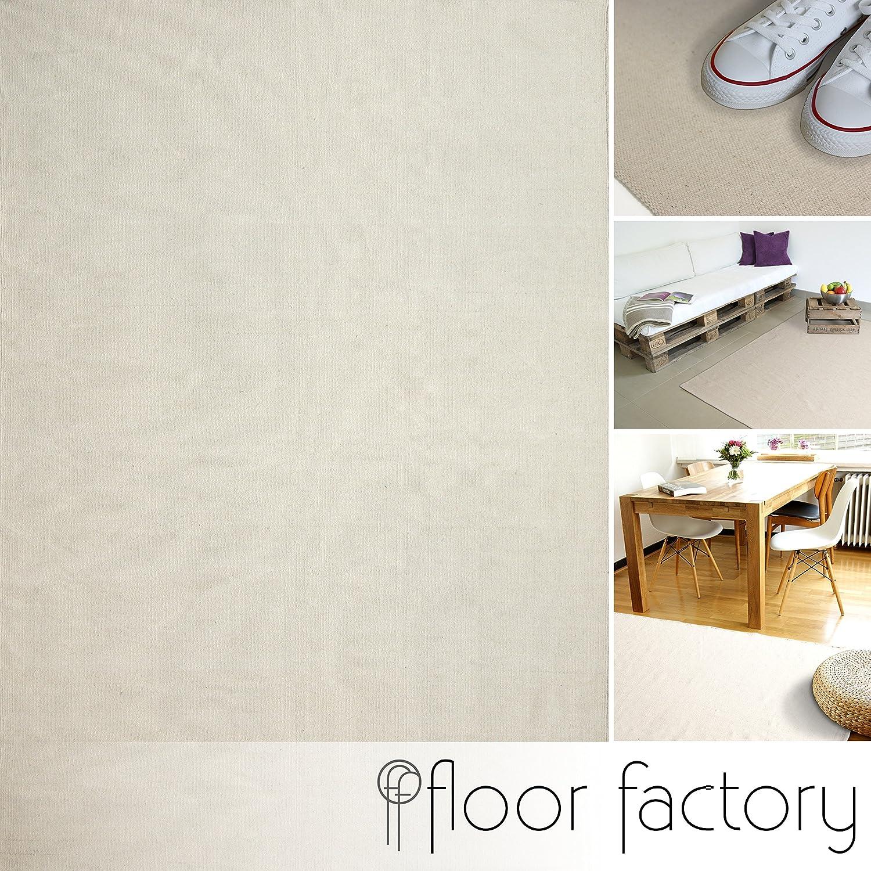 Moderner Baumwoll Teppich Living grün 120x170cm - waschbarer Webteppich aus 100% Baumwolle B076QJ3FLC Teppiche