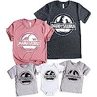 Teeny Fox Saurus Dinosaur Family Cute Matching Outfits Couple Shirts