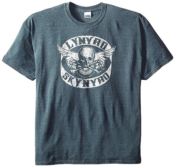 048f6befece FEA Merchandising Men s Lynyrd Skynyrd Biker Patch T-Shirt  Amazon.co.uk   Clothing