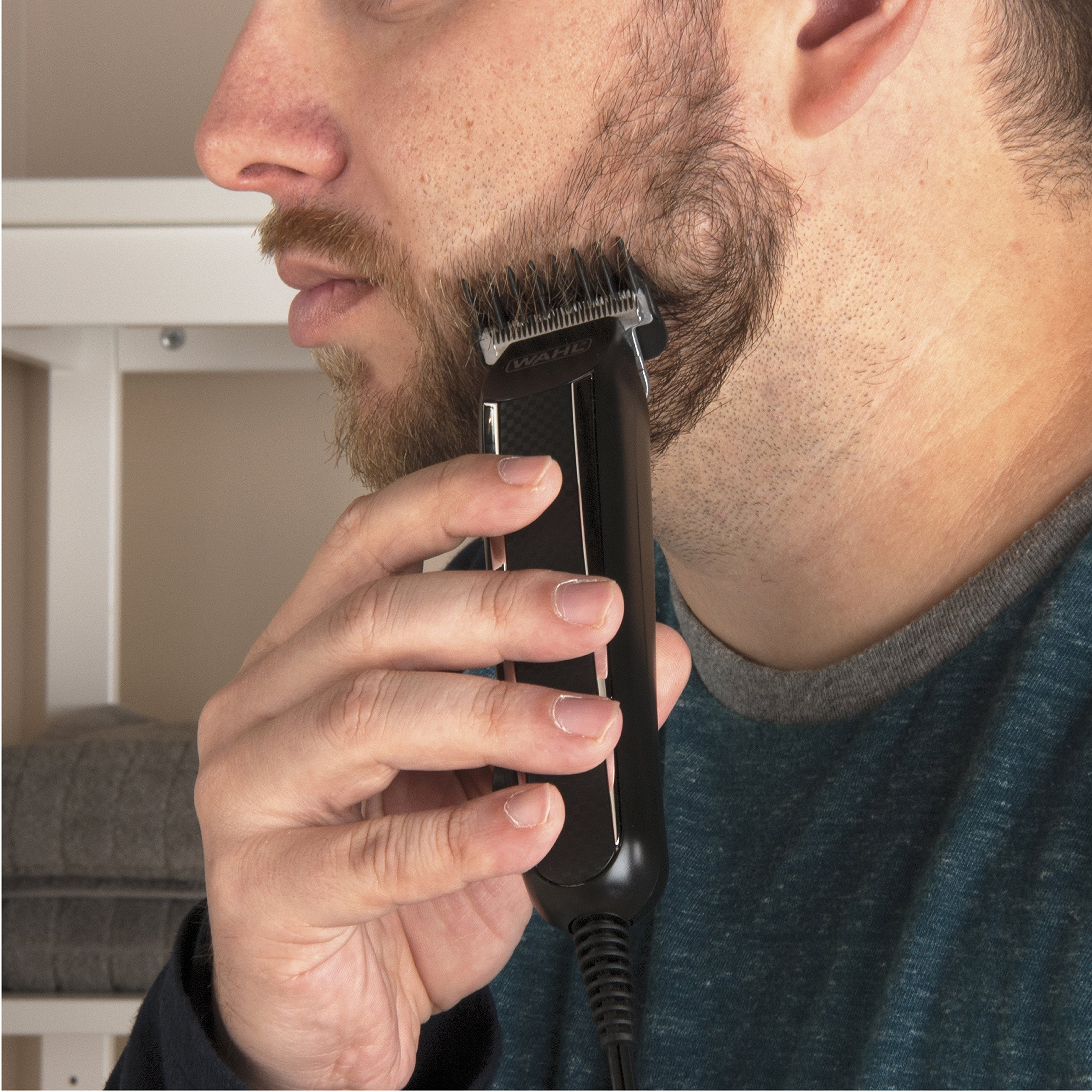 Wahl Clipper PowerPro Corded Beard Trimmers, Hair Clippers and Haircut Trimmers, men's grooming kits for Beard, Mustache, Stubble, Ear, Nose, Body Grooming, by the Brand used by Professionals # 9686 by Wahl (Image #4)