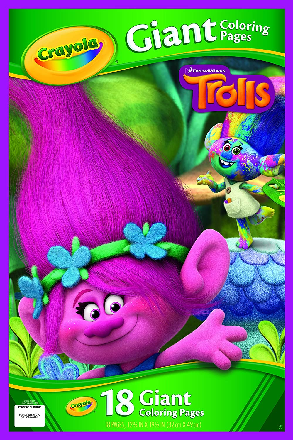 Moana coloring pages crayola - Crayola 04 6922 0 000 Trolls Giant Colouring Pages