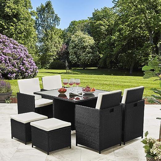 Sunny Seasons Ensemble de meubles de jardin en rotin Salon ...