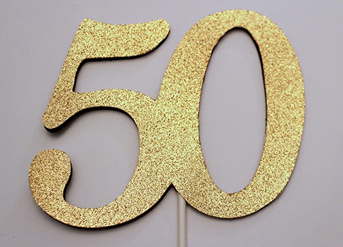 Amazoncom 50th Birthday Cake topper 50 Cake topper 50th