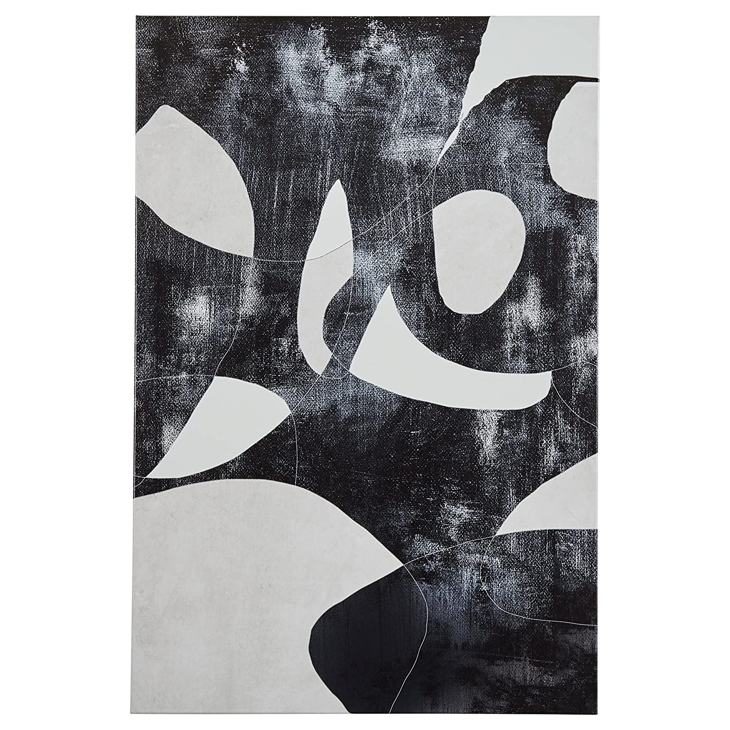 Rivet black and white abstract canvas print wall art 24 x 36