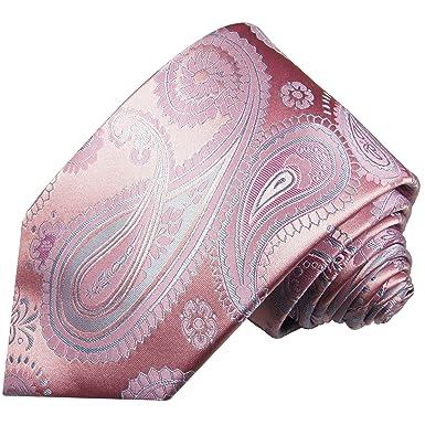 Paul Malone corbata de seda paisley azul rosa: Amazon.es: Ropa y ...