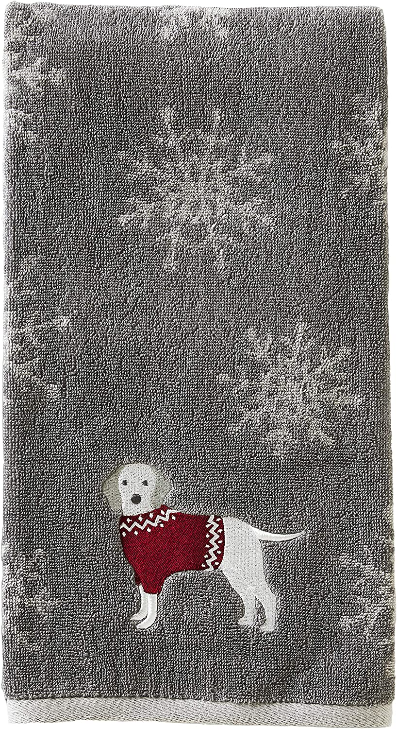 SKL Home by Saturday Knight Ltd. Vern Yip Fa La La Dogs Bath Towel, Gray