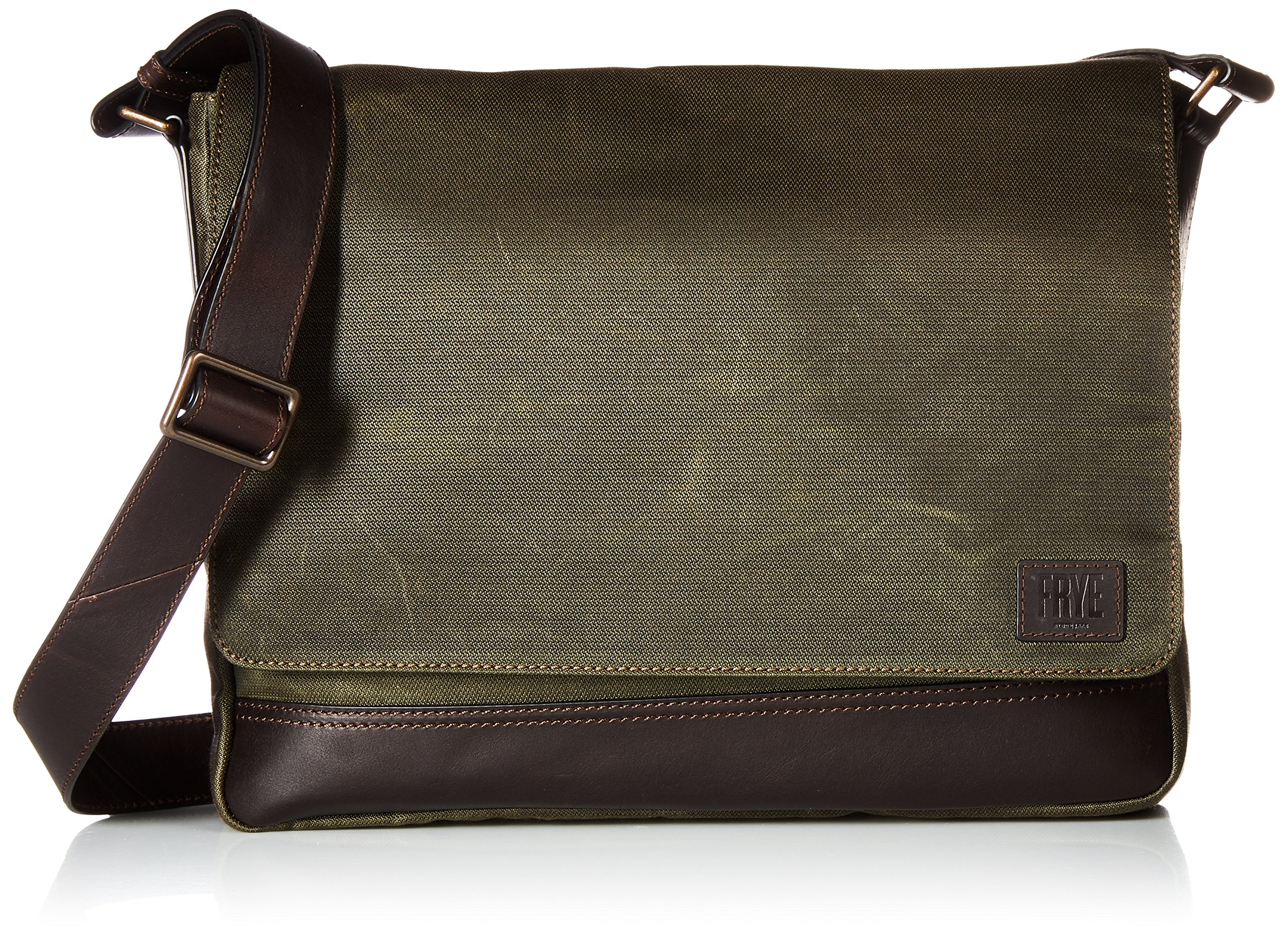 FRYE Men's Carter Messenger, olive, ONE SIZE