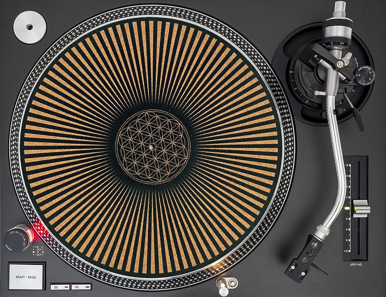 Taz Studio: Turntable Slipmat - Specially designed Cork. The flower of life, slipmats 4334204757