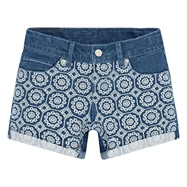 1eee26372a Amazon.com: Levi's Girls' Big Boyfriend Fit Denim Shorts, Blue Winds ...