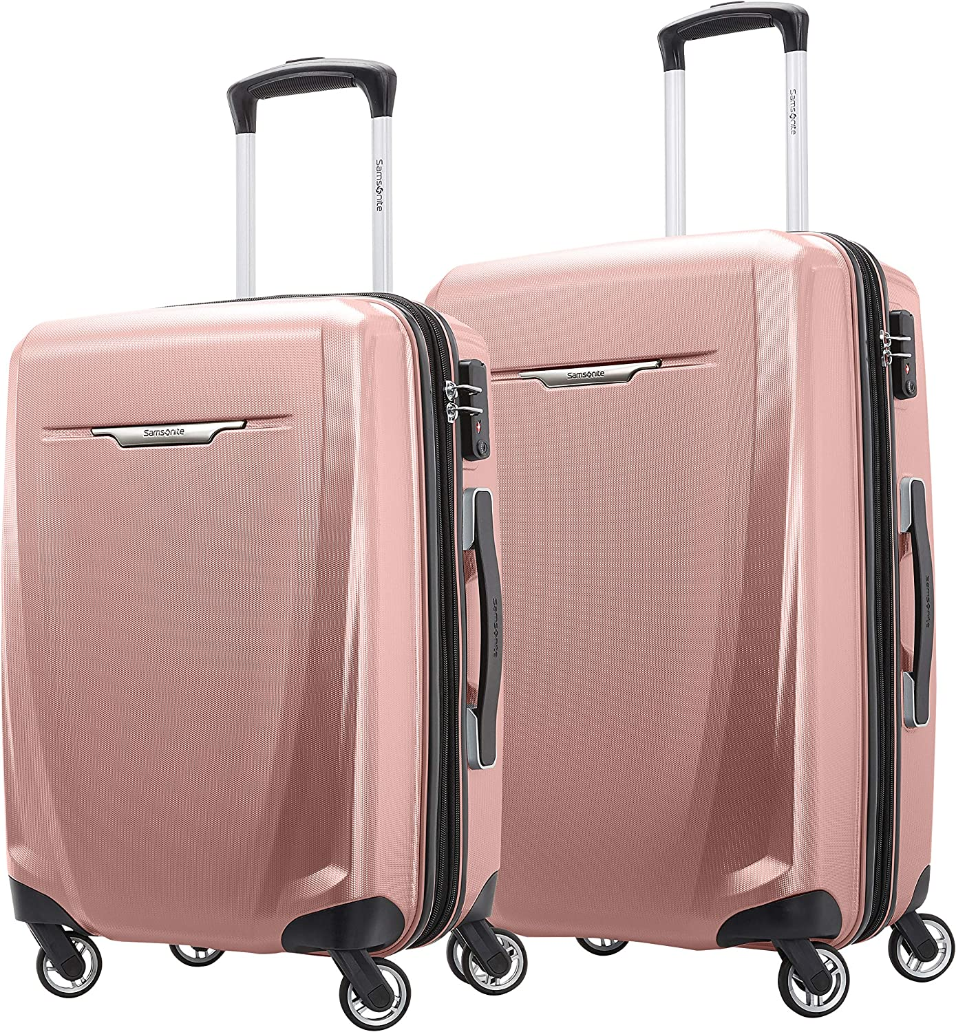 Samsonite Winfield 3 DLX Hardside Expandable Luggage with Spinners, Rose, 2-Piece Set (20/25)