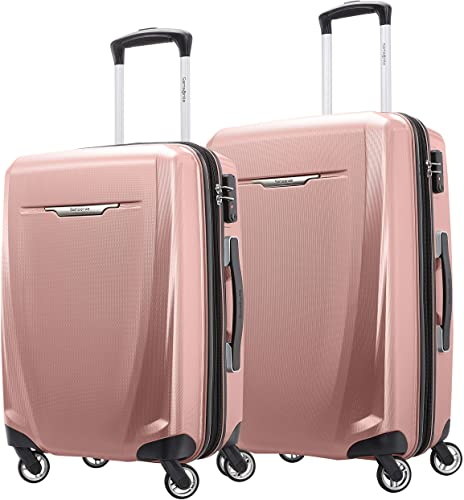 Samsonite Winfield 3 DLX Hardside Expandable Luggage with Spinners, Rose, 2-Piece Set 20 25