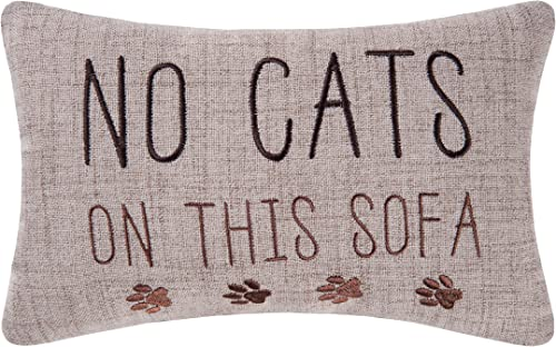 C F Home 8×12 Inches, No Cats On The Sofa Pillow