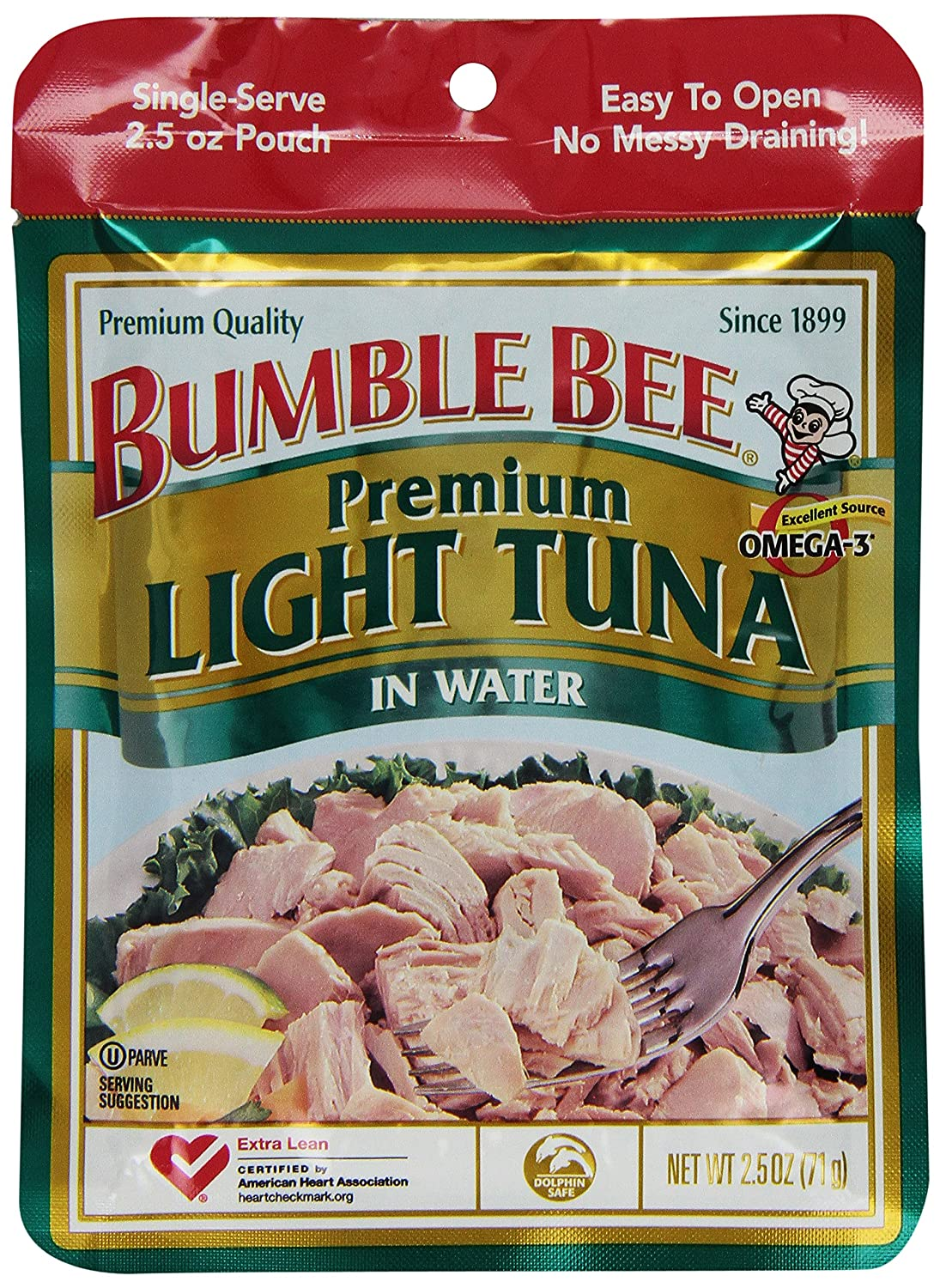 Bumble Bee Chunk Light Tuna in Water, 2.5 oz