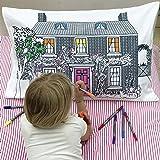 eatsleepdoodle Funda de almohada decorativa para el hogar