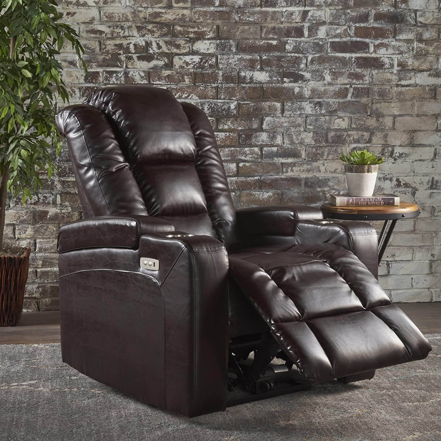 Pleasing Christopher Knight Home Everette Power Motion Recliner Brown Pdpeps Interior Chair Design Pdpepsorg