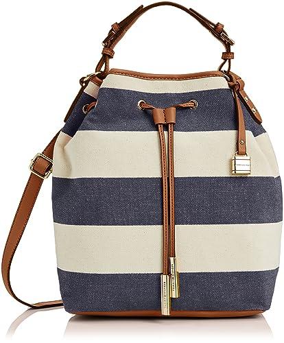 48af289044 Tommy Hilfiger Womens Summer Bucket 403 Top-Handle Bag Midnight Stripe