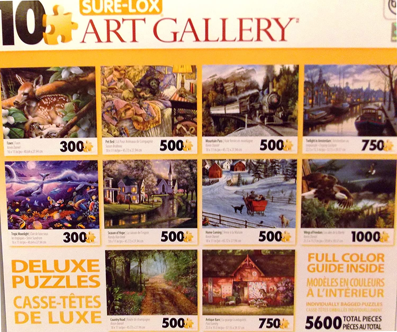 Art Gallery Village 1500 Piece Jigsaw Puzzle Sure Lox