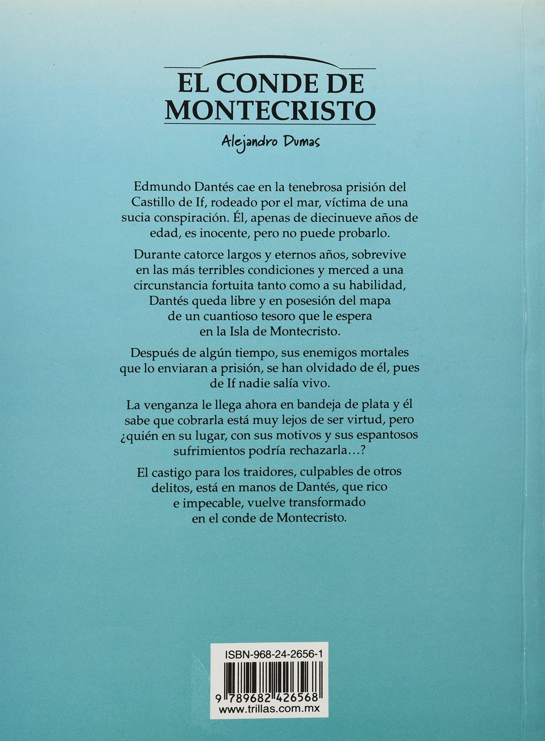 El conde de montecristo alejandro dumas editorial trillas amazon com mx libros