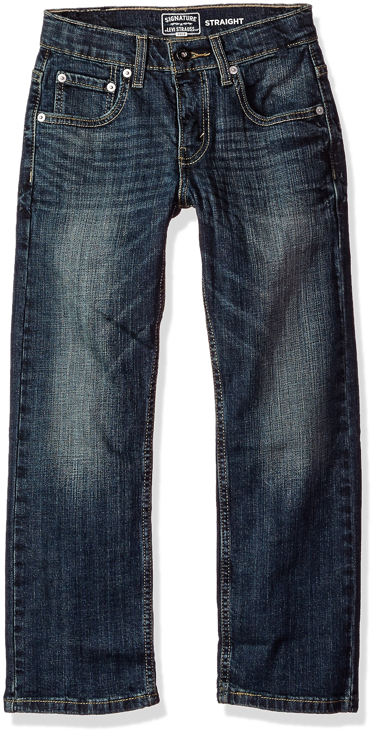 Signature by Levi Strauss & Co. Gold Label Big Boys' Straight Fit Jeans, Perth, 8 by Signature by Levi Strauss & Co. Gold Label