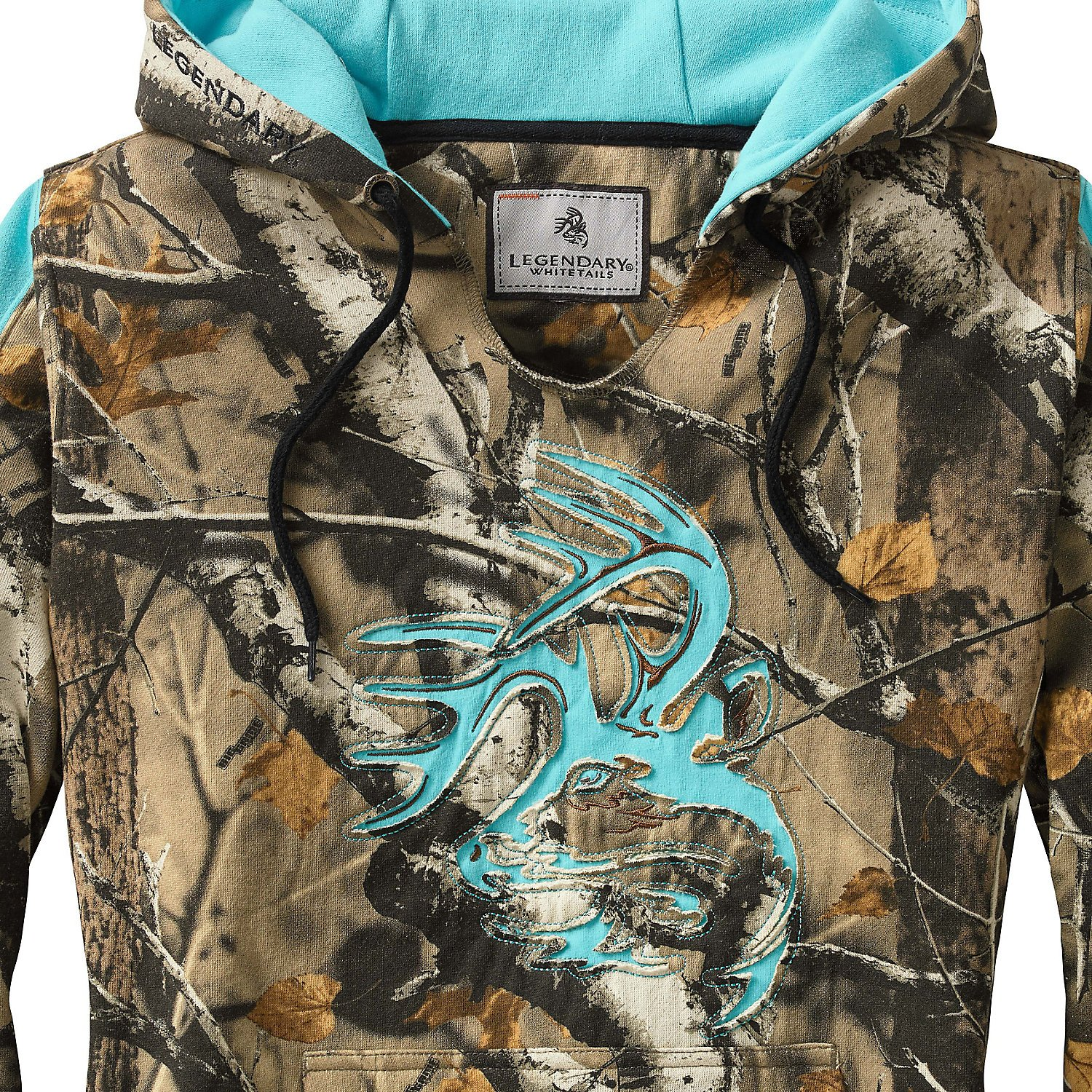 Legendary Whitetails Ladies Outfitter Hoodie Big Game Field Camo Small by Legendary Whitetails (Image #3)