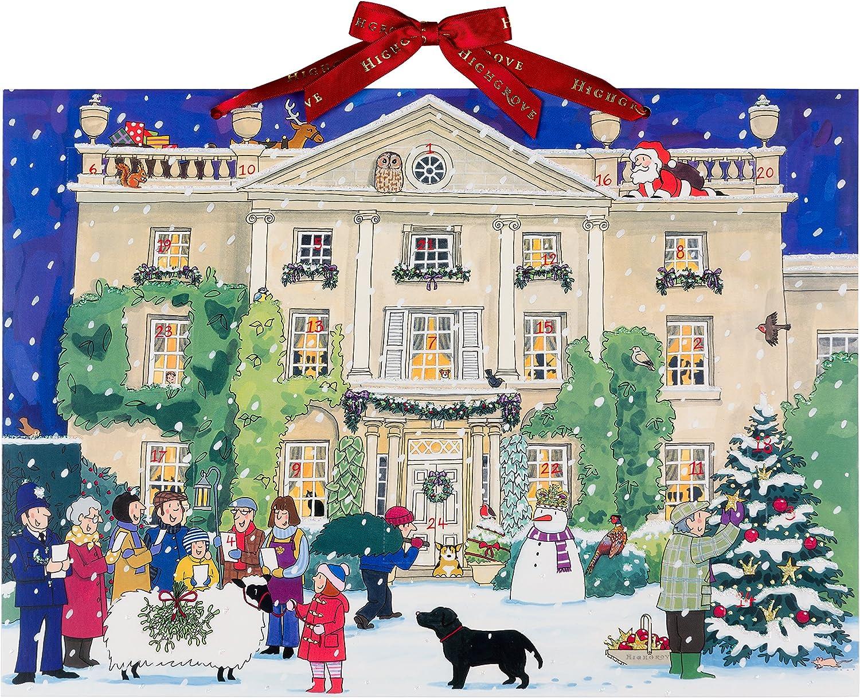 Alison Gardiner Famous Illustrator Unique Traditional Paper Advent Christmas Calendar - Designed in England - Beautiful Christmas Scene at Highgrove House
