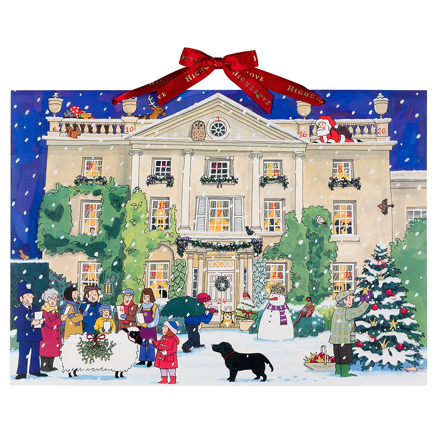 Alison Gardiner Advent Calendar 'Highgrove House at Christmas' Large Traditional A3 Alison Gardiner Designs Ltd
