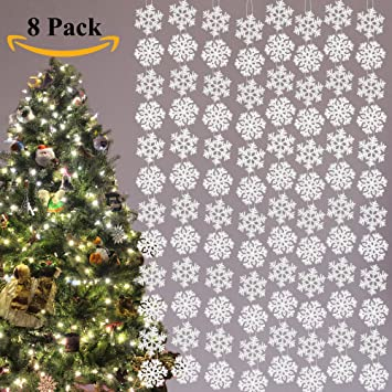 joiedomi 8 pack string snowflake christmas party winter wonderland 3 d hanging decoration