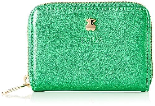 Tous 995960389, Monedero para Mujer, (Verde), 10x8x2.5 cm (W ...