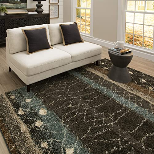 Mohawk Home Huxley Adobe Abstract Shag Area Rug