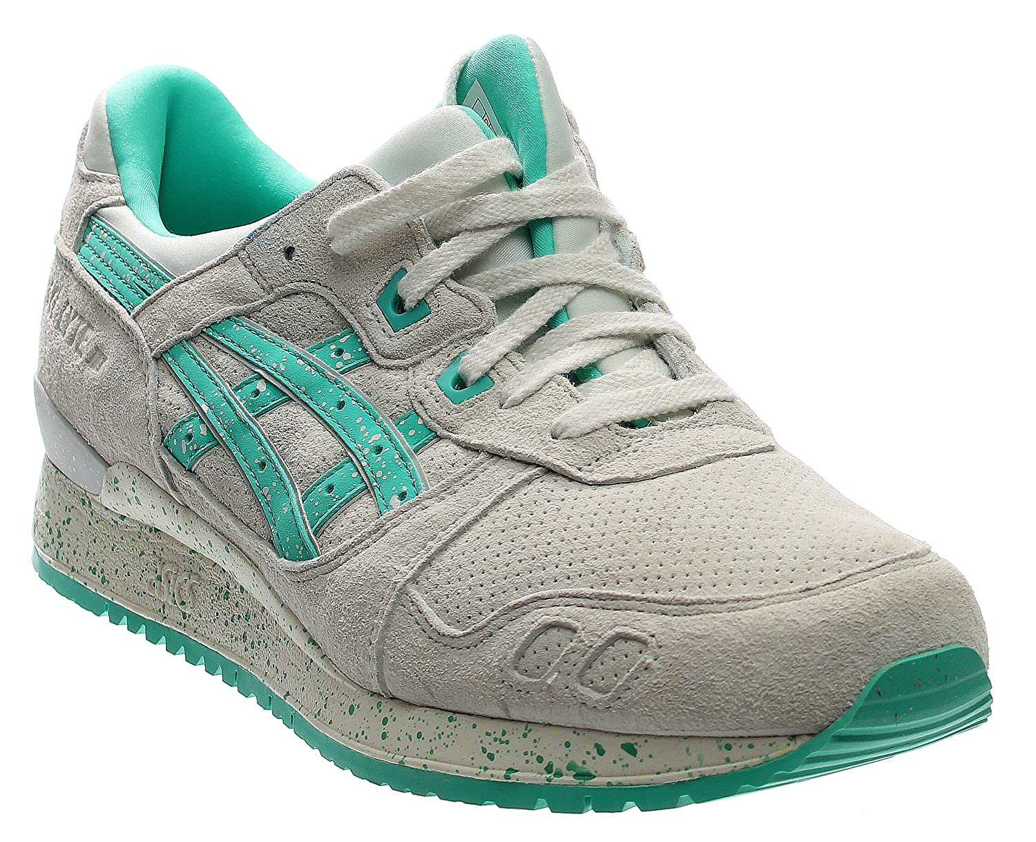 a28ad1cc1b4 Asics Gel-Lyte III Maldives Pack Mens White Leather Lace Up Trainers Shoes   Amazon.co.uk  Shoes   Bags