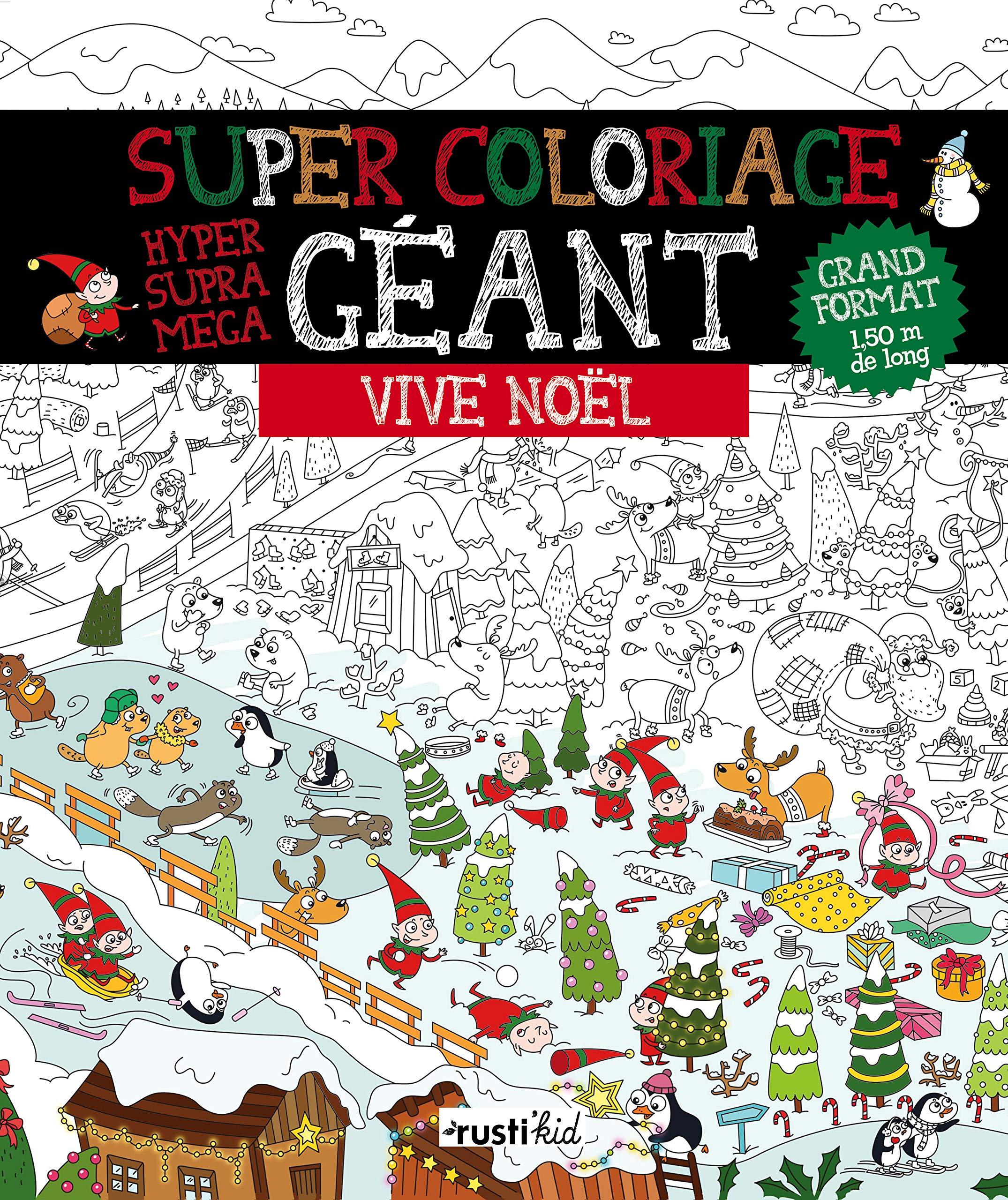 Super coloriage géant : Vive Noël (COLORIAGES GEANTS) (French