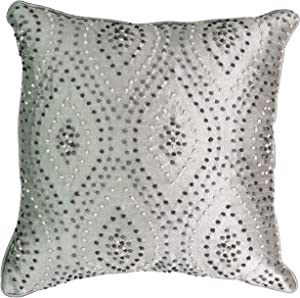 """Beautyrest Chacenay Knotted Decorative Pillow, 16"""" x 16"""", Paloma Grey"""