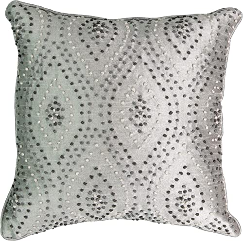 Beautyrest Chacenay Knotted Decorative Pillow, 16 x 16 , Paloma Grey