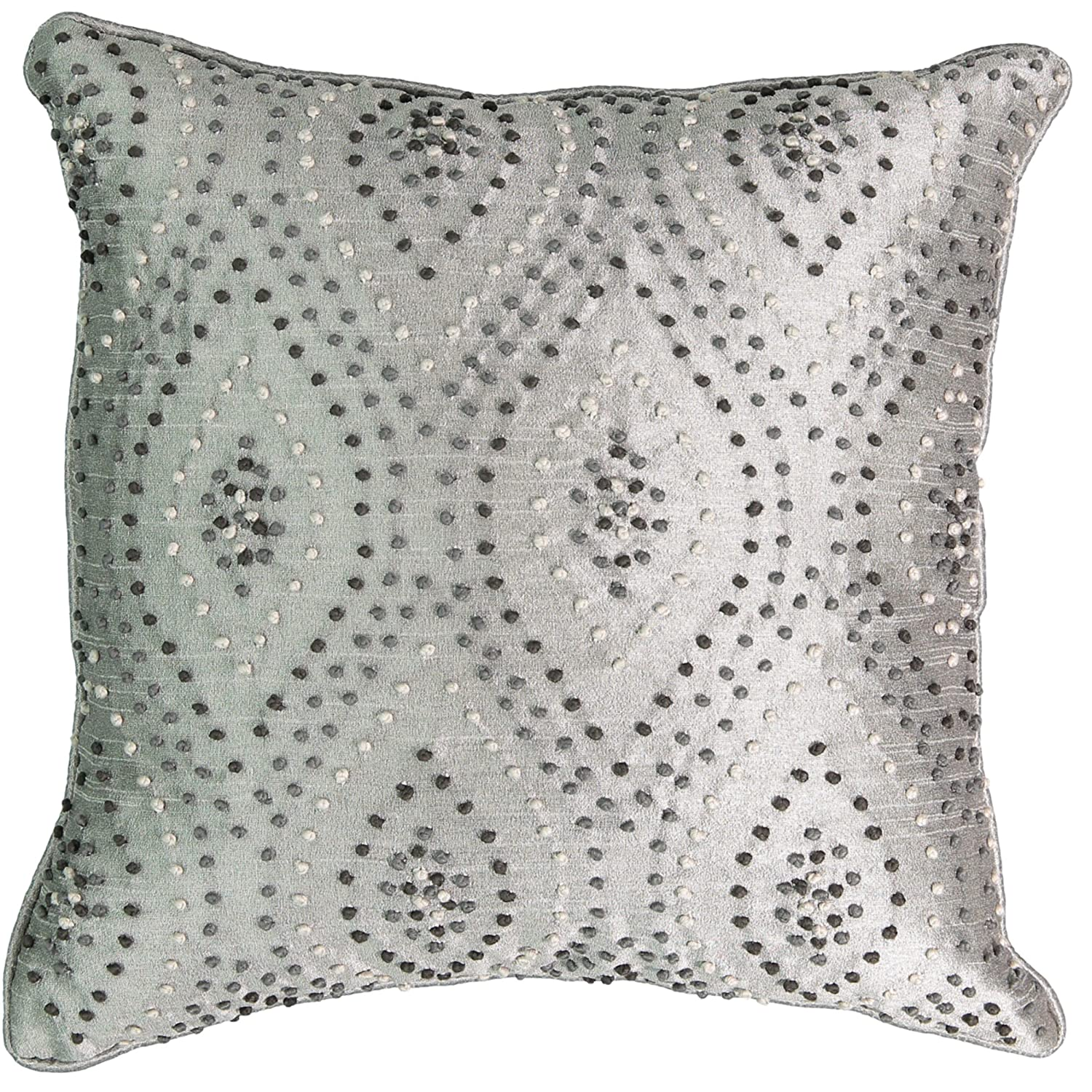 Beautyrest Chacenay Knotted Decorative Pillow 16 x 16 Paloma Grey Ellery Homestyles 16327016X016PGA