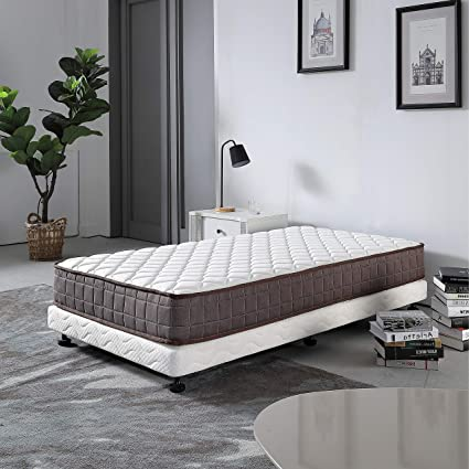 Le Confort 8 Inch Twin Size Mattress California Fire Resistant Hybrid  Single Spring Bed Mattress in a Box