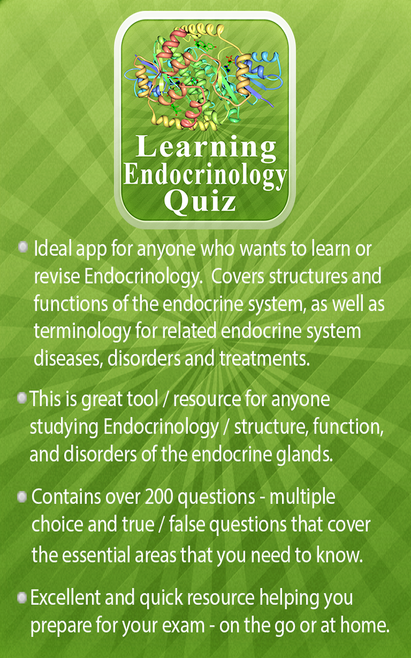 Amazon com: Learning Endocrinology Quiz: Appstore for Android