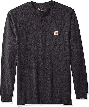 Carhartt Workwear Pocket Henley Shirt - Workwear Henley - Camisa con Bolsillos, Tallas Normales y Grandes Hombre: Amazon.es: Ropa y accesorios