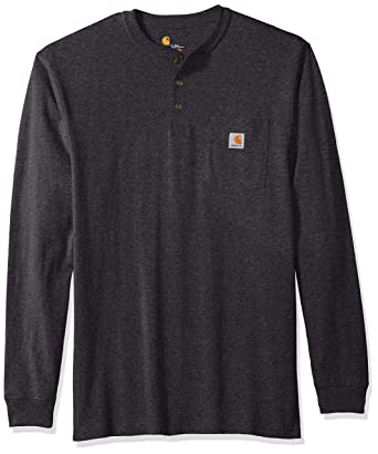 5e2c062c Amazon.com: Carhartt Men's Big and Tall Big & Tall Workwear Pocket Long  Sleeve Henley: Clothing