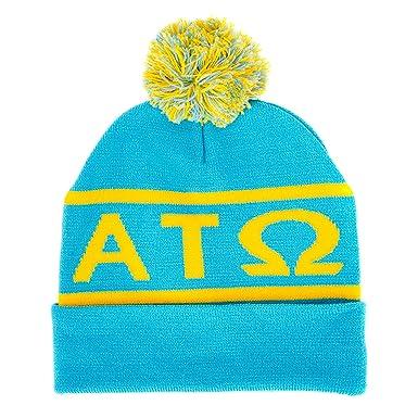 58513cd2323 Alpha Tau Omega Letter Winter Beanie Hat Greek Cold Weather Winter ...